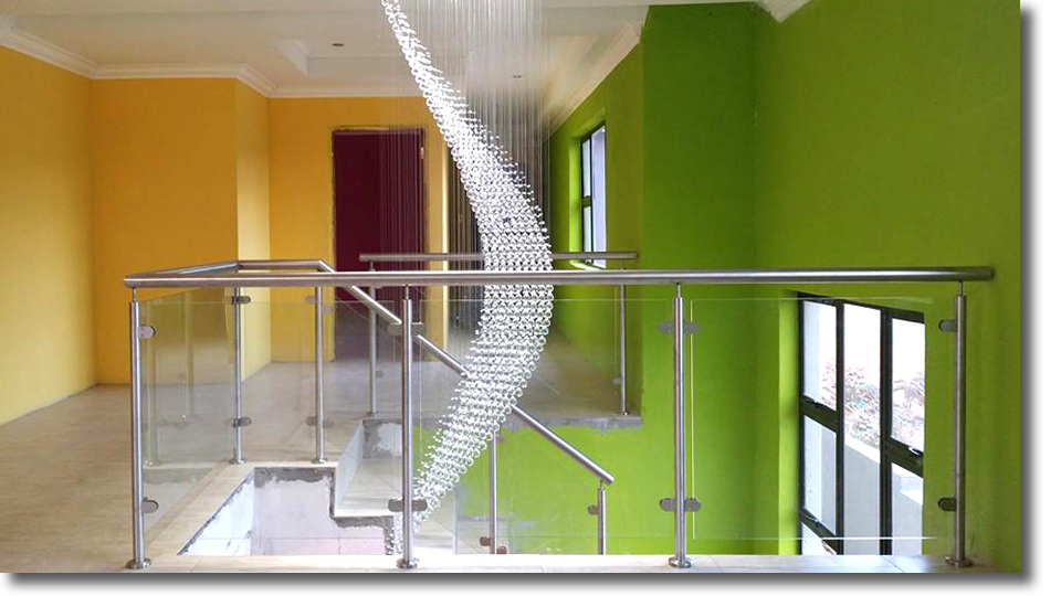Stainless Steel with Glass Balustrades